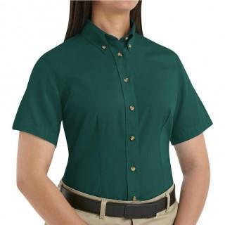 VF Workwear Part #1T21EMS - SHIRT, WOMEN, SS, TWILL 65/35, GREEN, S, EACH