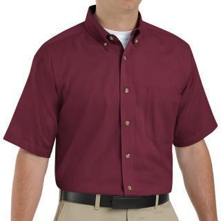 VF Workwear Part #1T22BUXXL - SHIRT, MEN, SS, 1PKT, TWILL 65/35 BURGANDY 2, EACH