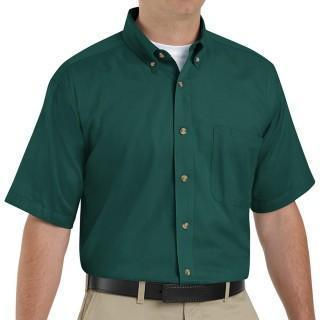 VF Workwear Part #1T22EML - SHIRT, MEN, SS, 1PKT, TWILL 65/35 EMERALD L, EACH
