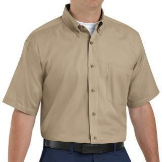 VF Workwear Part #1T22KH3XL - SHIRT, MEN, SS, 1PKT, TWILL 65/35 KHAKI 3X, EACH