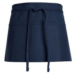 APRON, WAIST NAVY 3 POCKETS ONE SIZE FIT, EACH