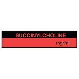 LABEL, TA048 SUCCINYLCHOLINEMG / MI(FL RED), EACH