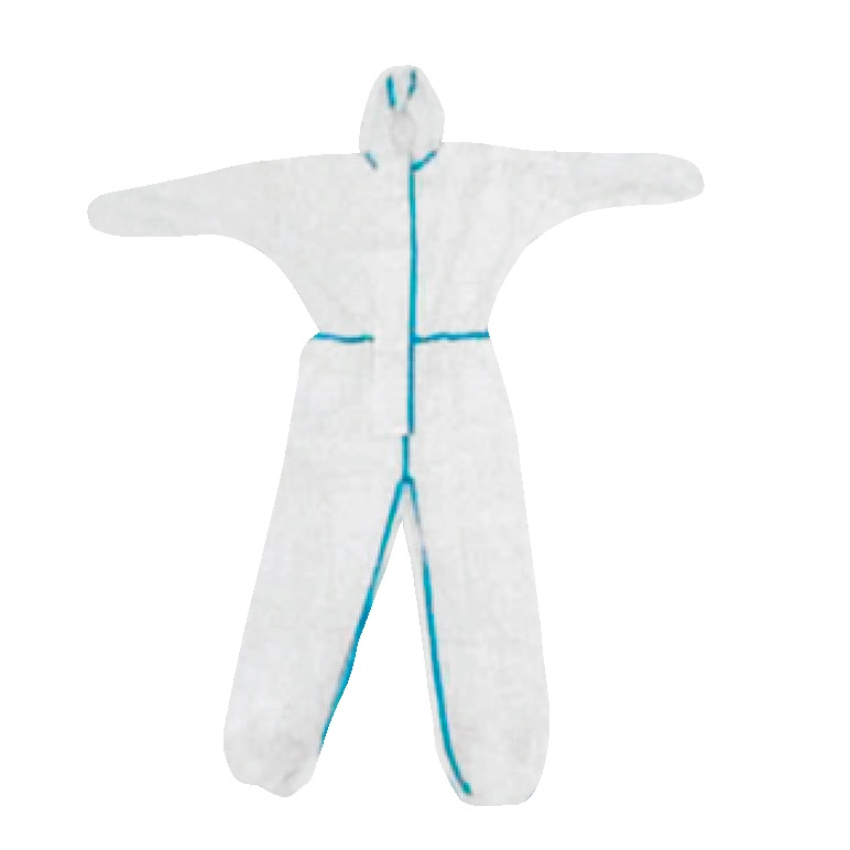 Microporous coveralls with hood, taped seams, elastic wrists and ankles, X-Large. 50 EA/CS