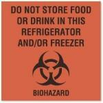 LABEL, DO NOT STORE FOOD FL RED, 10/PK